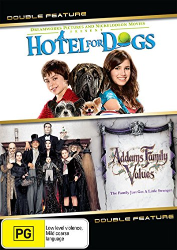 Addams Family Values / Hotel for Dogs DVD