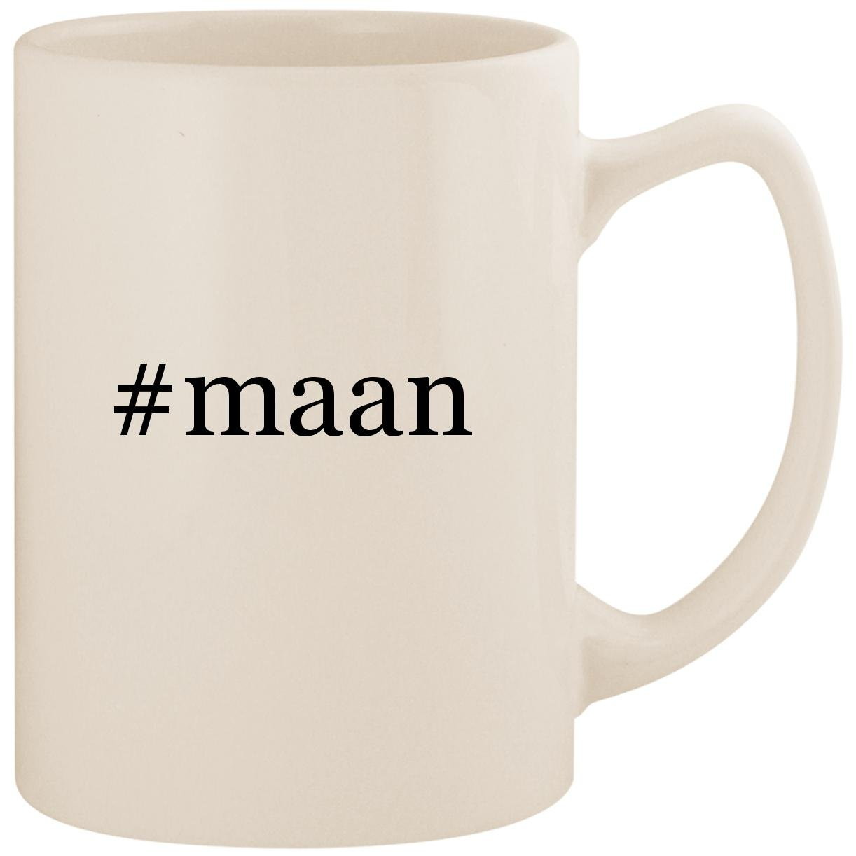 #maan - White Hashtag 14oz Ceramic Statesman Coffee Mug Cup by Molandra Products
