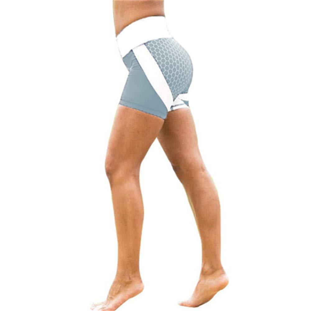 Qiujold Women Leggings Yoga Pants Compression Tights (L, Gray)