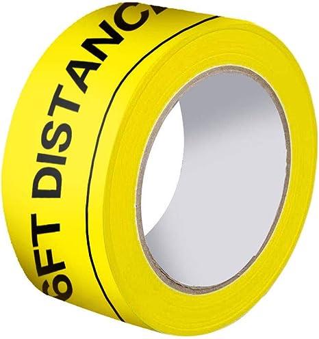 PVC Social Distancing Floor Tape Safe Distance Marking Hazard Warning 33m//Roll