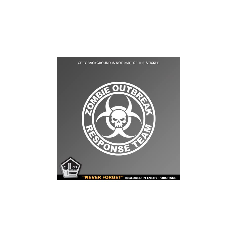 (2x) Zombie Outbreak Response Team   Sticker   Decal   Die Cut