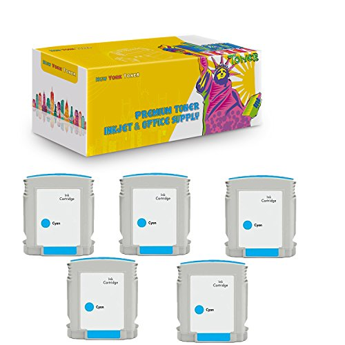 New York TonerTM New Compatible 5 Pack C4804A HP 12 High Yield Inkjet For HP Businessjet 3000 . -- Cyan
