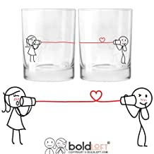 BOLDLOFT Say I Love You Too His and Hers Drinking Glasses- Valentines Day Gifts for Boyfriend for Girlfriend, Couples Gifts for Him and Her, For Him Gifts, Anniversary Gifts for Husband for Wife
