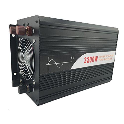 Xijia 3200W (Peak 6400W) Pure Sine Wave power Inverter DC 12V 24V 48V to AC 120V 60HZ Solar converter For Home Use car (DC 48V to AC 120V) by Xijia (Image #6)