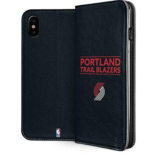 - Portland Trail Blazers iPhone Xs Case - NBA | Skinit Folio Case - Faux-Leather Wallet iPhone Xs Cover