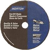 Norton Gemini Small Diameter Reinforced Abrasive Flat Cut-off Wheel, Type 01, Aluminum Oxide