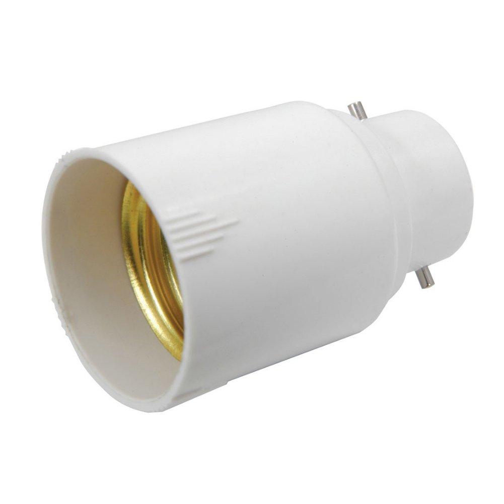 E27 Lampenfassung Schraube Gl/ühlampe Halter Anh/änger Sockel wei/ß Farbe LAMP Light Einfa/ßungskonverter 401 090 Bayonet B22 E27 Schraubsockel Home prouduct