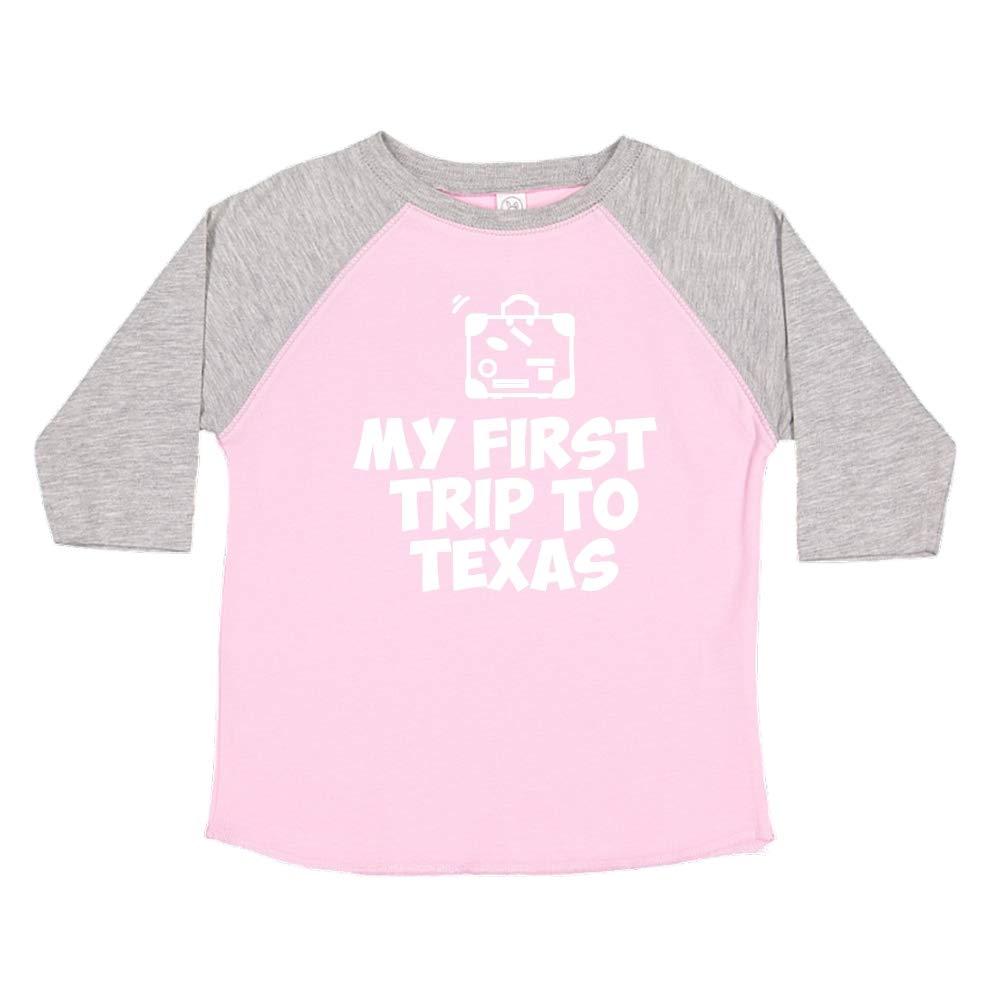 My First Trip to Texas Toddler//Kids Raglan T-Shirt
