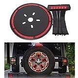 jeep wrangler rubicon spare tire - SUPAREE LED 3rd Third Brake Light+Spare Tire Brake Light Wheel Light for Jeep Wrangler JK Brake Tail Light Lamp Rear High Mount Stop Light