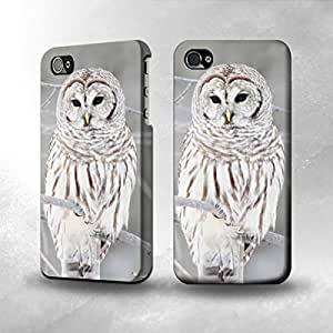 Apple iPhone 4 / 4S Case - The Best 3D Full Wrap iPhone Case - Snowy Owl White Owl
