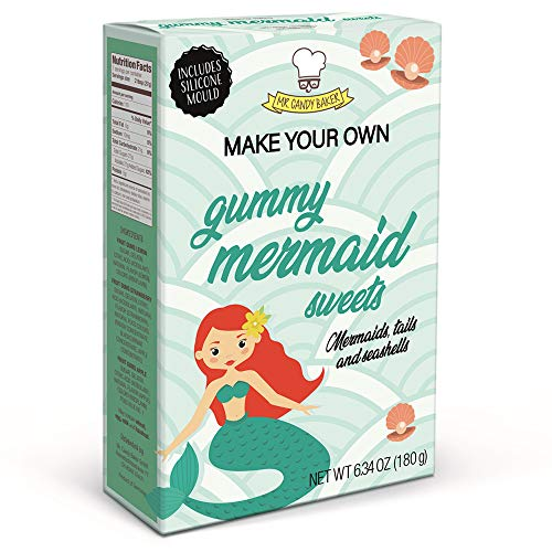 Make Your Own Mermaid Gummies Kits with mold, pack of 4