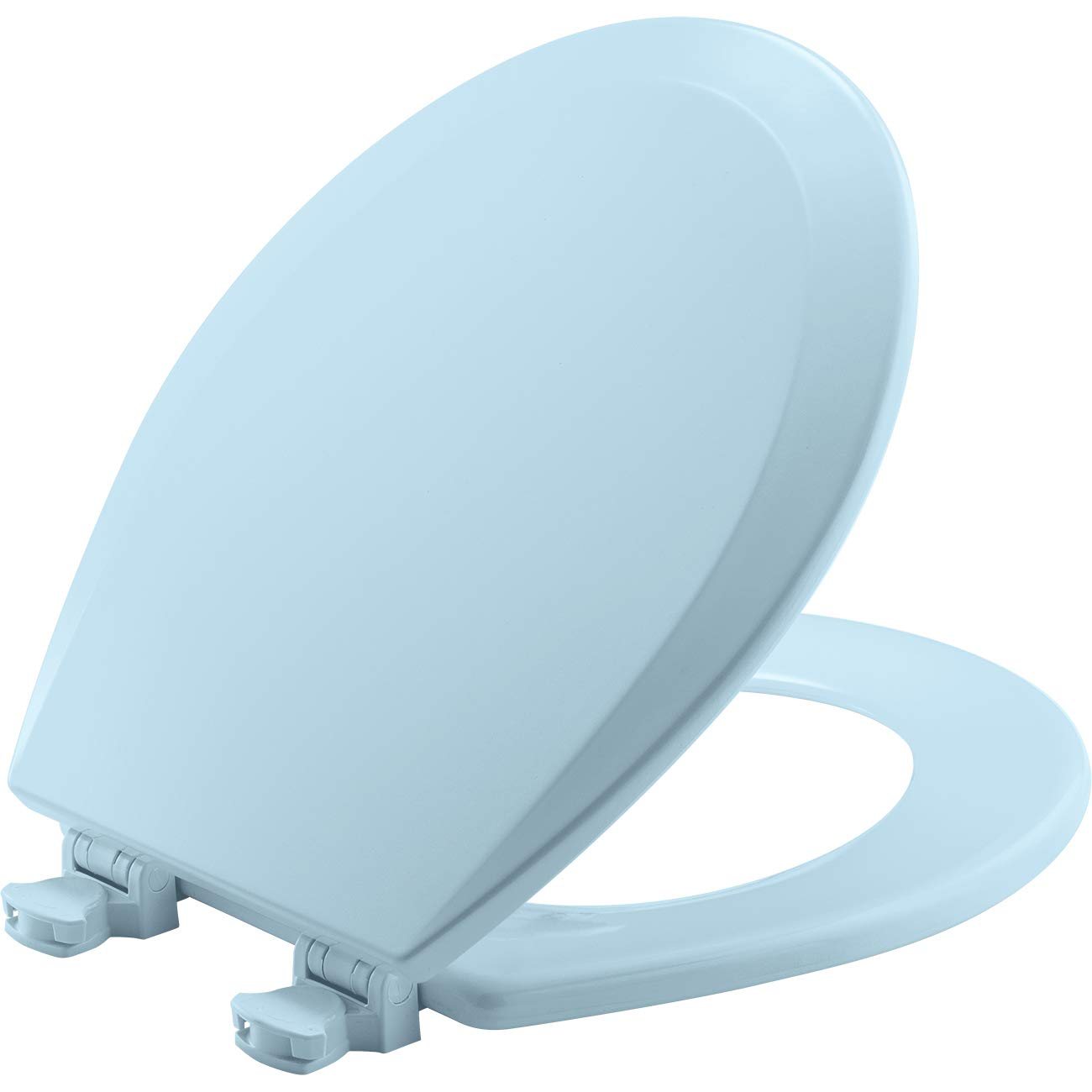 Admirable Bemis 500Ec 464 Toilet Seat With Easy Clean Change Hinges Round Durable Enameled Wood Dresden Blue Pdpeps Interior Chair Design Pdpepsorg