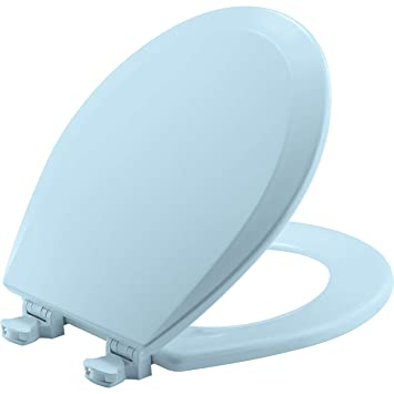 Magnificent Bemis 500Ec 464 Toilet Seat With Easy Clean Change Hinges Round Durable Enameled Wood Dresden Blue Ocoug Best Dining Table And Chair Ideas Images Ocougorg