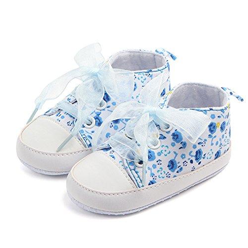 Yulan Riemchen Design Baby Kleinkind Schuhe Baby Mädchen Cute rutschfeste Schuhe (blau, violett, pink) purple11