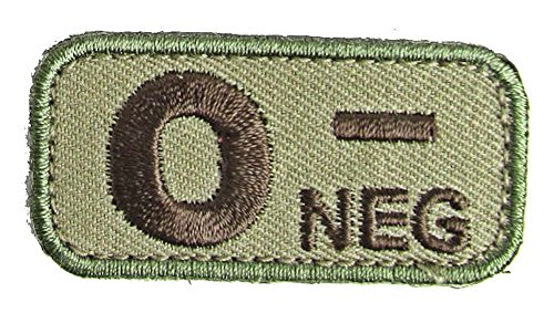 Blood Type Patches - Mil-Spec Monkey MULTICAM (O NEG)