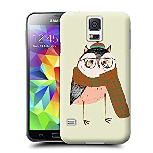 Unique Phone Case Owls Love Scarfs Hard Cover for samsung galaxy s5 cases-buythecase