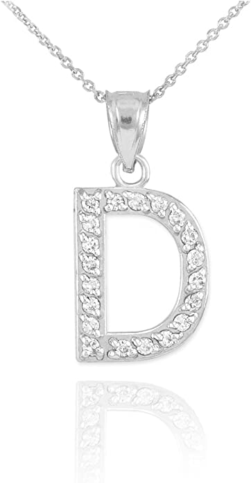 Centre Initial Script Rose Gold Letter Diamond Pendant in 14 k Rose Gold Initial Script Letter Personalised Necklace Charm