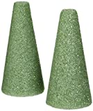 "Styrofoam Cones 6""X3"" 2/Pkg-Green"