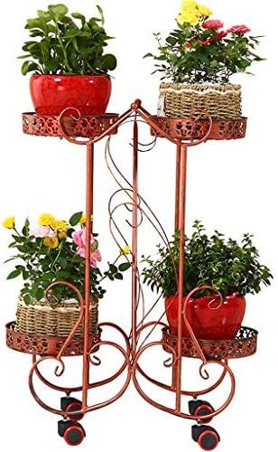 植物スタンド花スタンド 鉄多層屋内リビングルーム携帯フラワーポット棚スペースを節約
