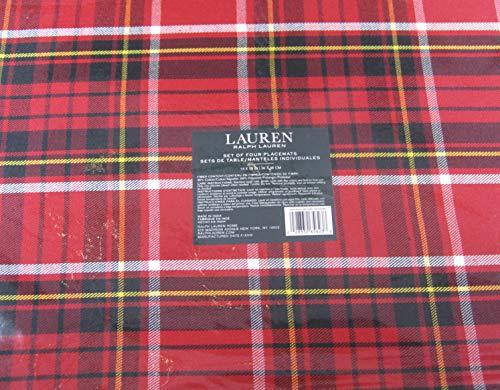 Ralph Lauren Gretchen Tartan Plaid Placemats Red 14