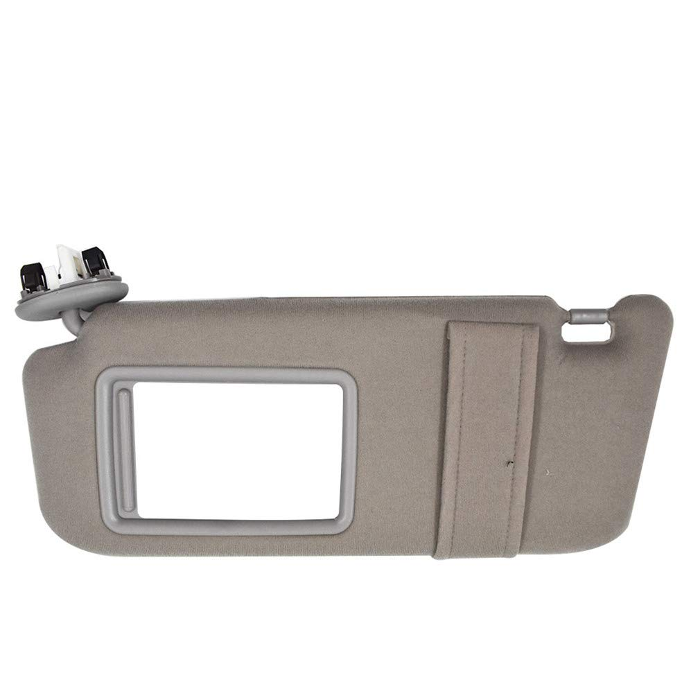 New Left//Driver Side Gray Sun Visor fit for Toyota Camry 2007 08 09 10 2011 with Sunroof and Light
