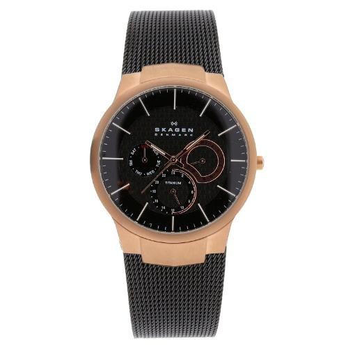 Skagen Titanium Bracelet - Watch Skagen Men's Titanium Watch Quartz Mineral Crystal 809XLTRB 809XLTRB