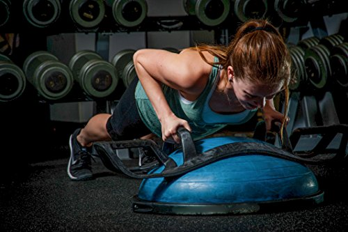 The HELM Core Fitness Strength Training System Multi Grip Push Up and Plank Device for Balance Ball and Stability Ball