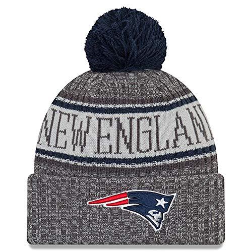 New Era New England Patriots Gray/Graphite Sport Knit NFL 2018 Beanie Unisex Hat Graphite, OSFM