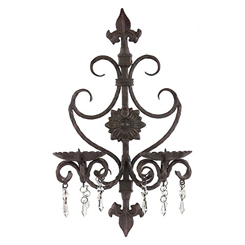 Imax Corporation Candle Holder Wall Sconce in Brown from Imax