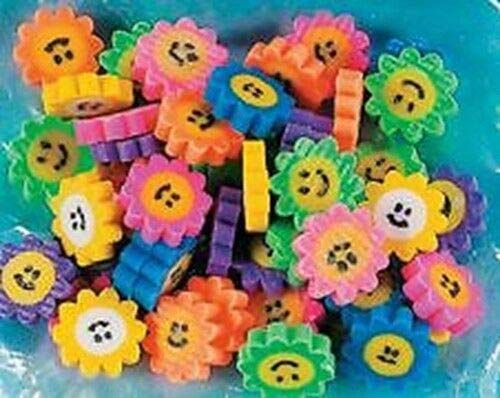 (48 Flower Daisy Smile Face Erasers Smiley)