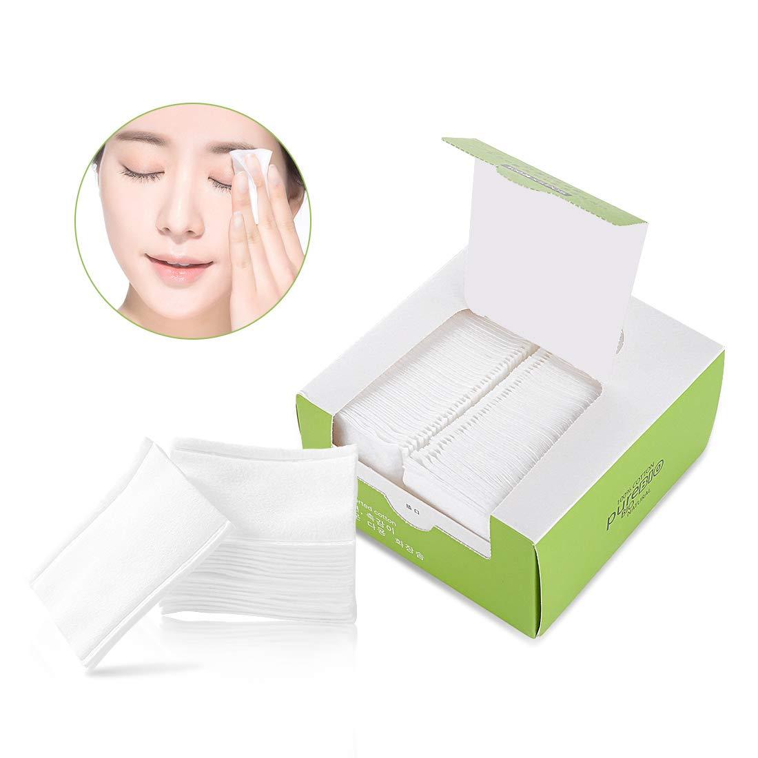 100x5PCS 100% Natural OrganicCotton Pads Makeup Facial pads Soft Cotton Pads Make Up Removing 60x50 mm