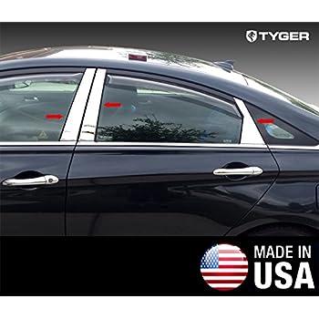 TYGER For 2016-2018 Hyundai Tucson 6PC Stainless Steel Pillar Post W// Diagonal