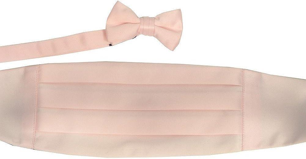 Boys Peach Cummerbund Bow-tie Special Occasion Accessories Set