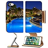 Liili Apple iPhone 7 Flip Pu Leather Wallet Case Swimming pool at night vacation background iPhone7 IMAGE ID 31750094