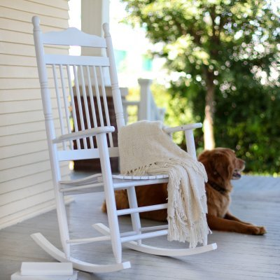 Dixie Seating Indoor/Outdoor Spindle Rocking Chair - White