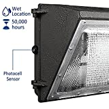 LEDMO 120W LED Wall Pack Light with Dusk-to-Dawn