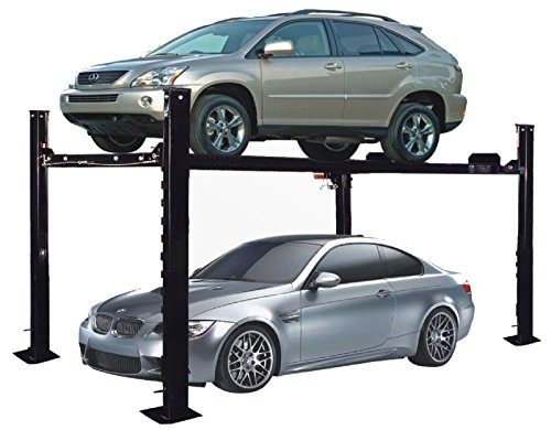APlusLift HW-8S 8000LB 4 Post Garage Storage Service Auto Hoist Car Lift / 12 Months Parts Warranty