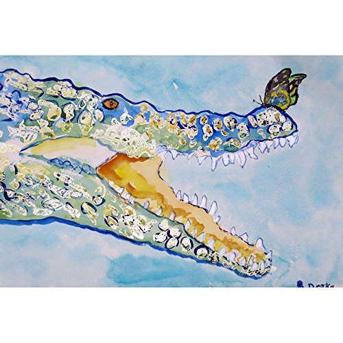 Betsy Drake TP548 Croc & Butterfly Outdoor Wall Hanging 24