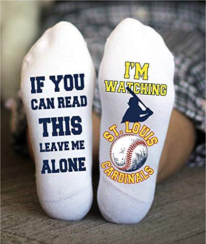 St. Louis Cardinals Socks Funny Birthday Gift Baseball Team