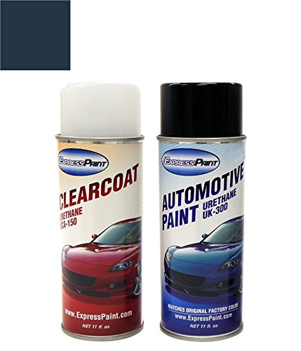 ExpressPaint Aerosol Audi TT Automotive Touch-up Paint - Moro Blue Pearl Clearcoat LZ5J/P7 - All Inclusive Package