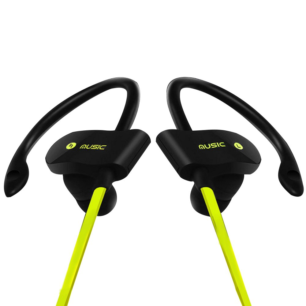 Bluetooth Headsets,XPLUS Wireless Bluetooth Headphones with Mic Bass Noise Cancelling, New Trent Bluetooth Sport HD Stereo Headset In-ear Earbuds Earphones with Flexible Ear Hooks (Green)
