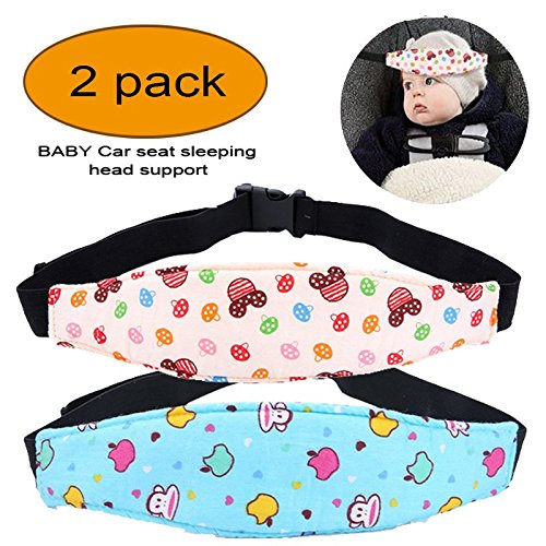 2 Pcs Infants and Baby Head Support, Safety Car Seat Neck Relief, Safety Stroller Sleeping Belt,Offers Protection and Safety for Kids from Affordable