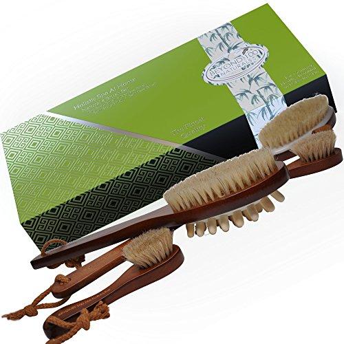 Natural Boar Bristle Anti-Cellulite Brush, Body Brush and