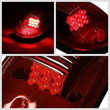 5PCs Amber Lens Amber Light 12V LED Bulb Stock Cab Roof Top Marker Light Running Lamp Cover Kit Works With 02-08 Dodge Ram 1500//2500//3500//4500//5500