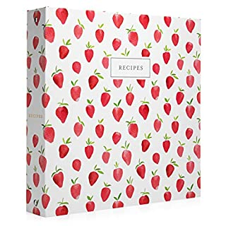 Jot & Mark Recipe 3 Ring Binder 8.5x11 | Full-Page with Clear Protective Sleeves and Color Printing Paper for Family Recipes