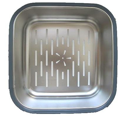 MUZIDP Cubertería de Acero Inoxidable Drenaje Cesta,Cocina Resistente al Calor Fregadero Lavabo de Lavado