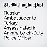 Russian Ambassador to Turkey Assassinated in Ankara by off-Duty Police Officer | David Filipov,Brian Murphy