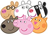 Star Cutouts SMP91 Peppa/Zoe/Suzie/Candy/Dany/Pedro Peppa Pig Party Mask, One Size