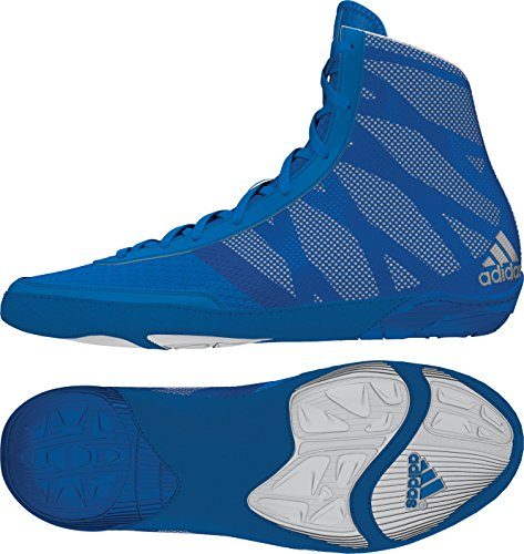 adidas Pretereo III Wrestling Shoes - Royal/Silver/White - 9.5