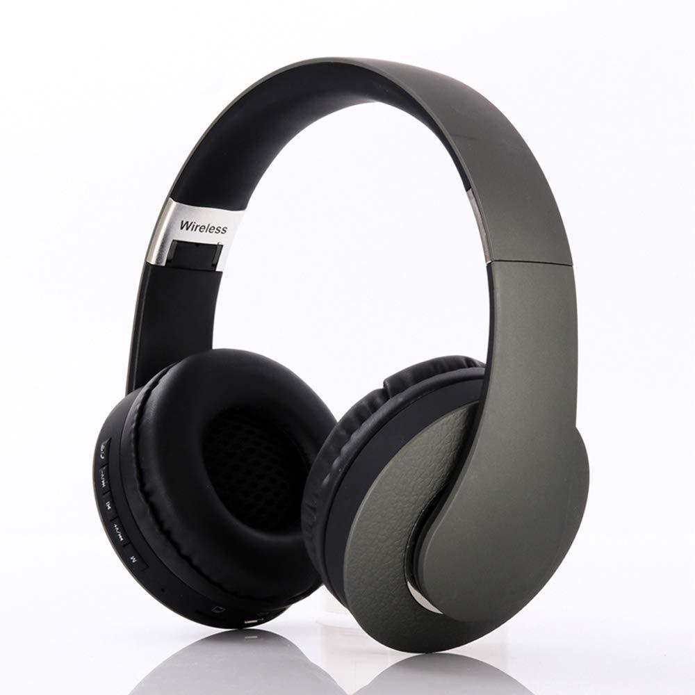 VOANZO ワイヤレスヘッドフォン オーバーイヤー型 ノイズキャンセリング 折りたたみ式 Bluetooth Hi-Fiステレオヘッドセット 重低音 ワイヤレスヘッドフォン 旅行用 携帯電話/PC用 グリーン   B07RLBJ7T3